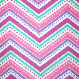 Sleeping Bag - Pastel Chevron Dots