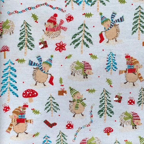 Sleeping Bag - Festive Hedgehogs