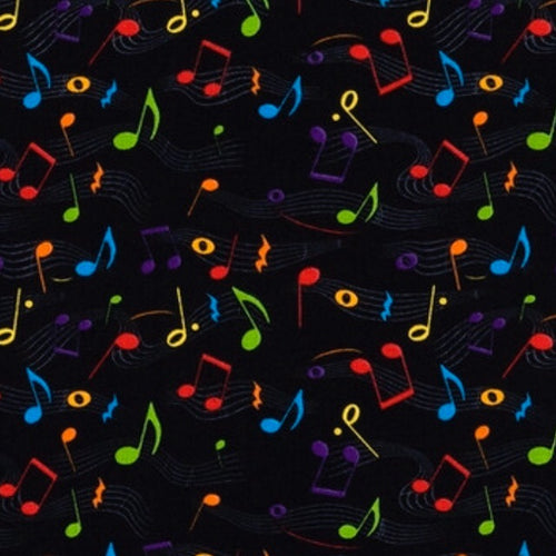 Sleeping Bag - Colorful Music Notes
