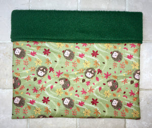 Sleeping Bag - Green Windy Hedgehogs