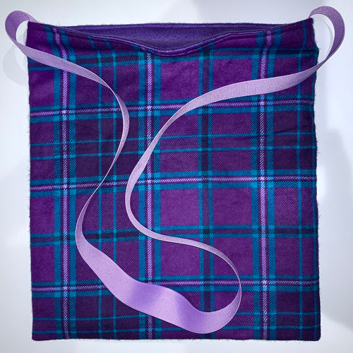 Bonding Bag - Blue Purple Plaid