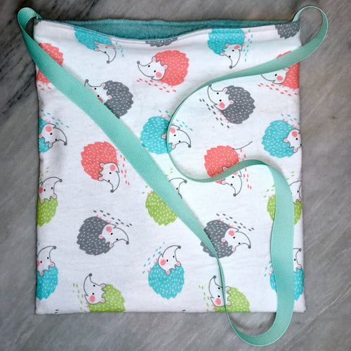 Bonding Bag - Hedgehogs on White