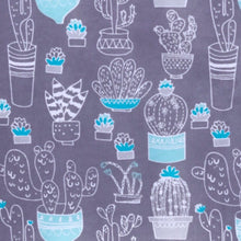 Load image into Gallery viewer, Sleeping Bag - Gray Blue Cactus