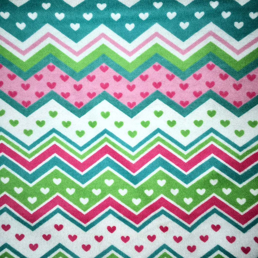 Sleeping Bag - Chevron Hearts