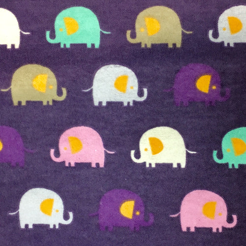 Sleeping Bag - Purple Elephants