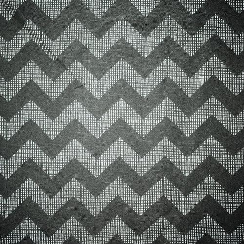 Sleeping Bag - Gray Crosshatch Chevron