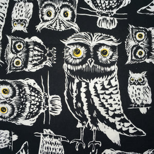 Sleeping Bag - Black and White Owls