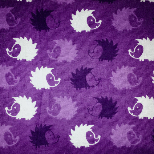 Sleeping Bag - Purple Hedgehogs