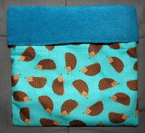 Sleeping Bag - Turquoise Hedgehogs