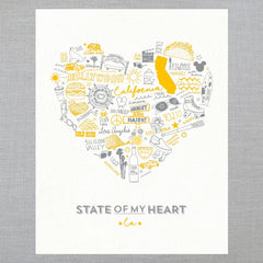 State of My Heart - Art Print - California
