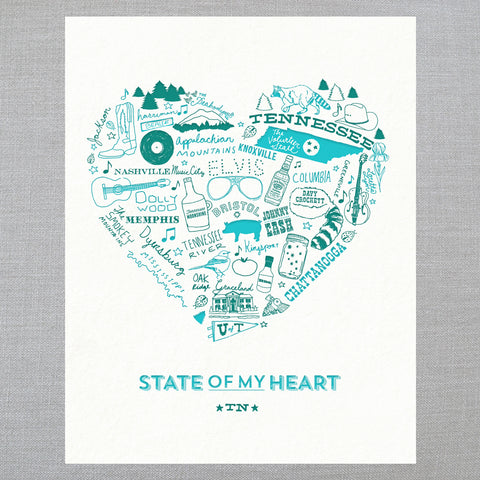 State of My Heart - Art Print - Tennessee
