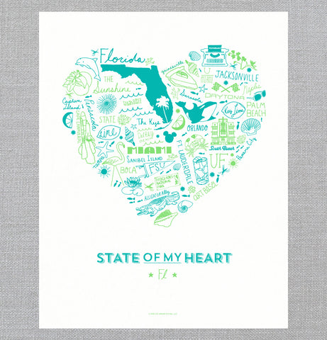 State of My Heart - Art Print - Florida