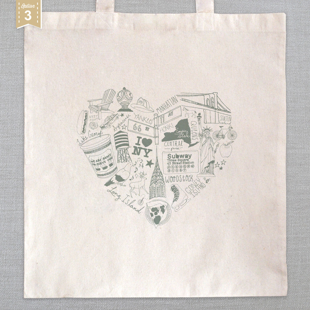 Art Bag Nyc State Of My Heart Tote Bag New York Ice Cream Social