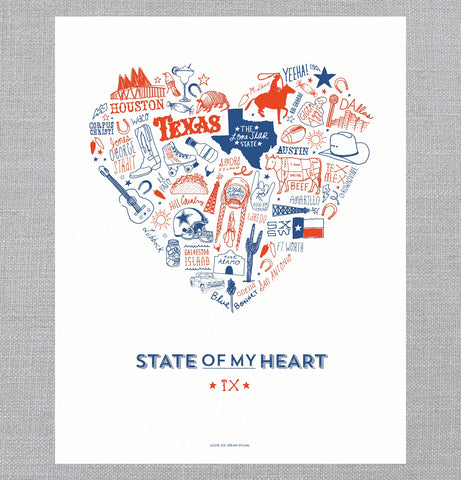 State of My Heart - Art Print - Texas