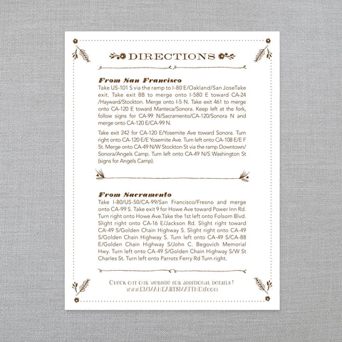 Rustic Romance - Enclosure Card