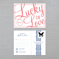 Lucky In Love - RSVP Postcard