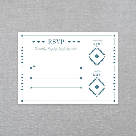 Southwest Sweetheart - RSVP w/Envelope