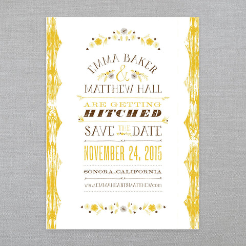 Rustic Romance - Save The Date