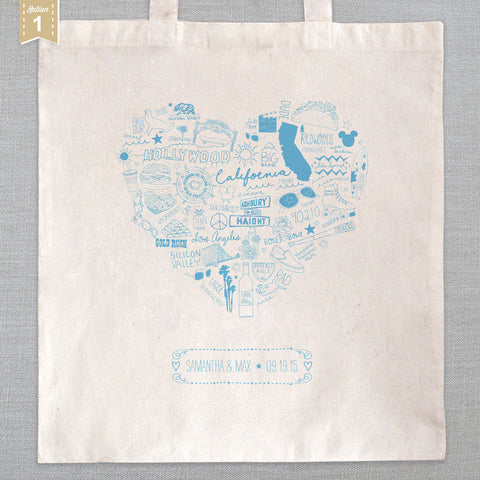 State of My Heart - Tote Bag - California
