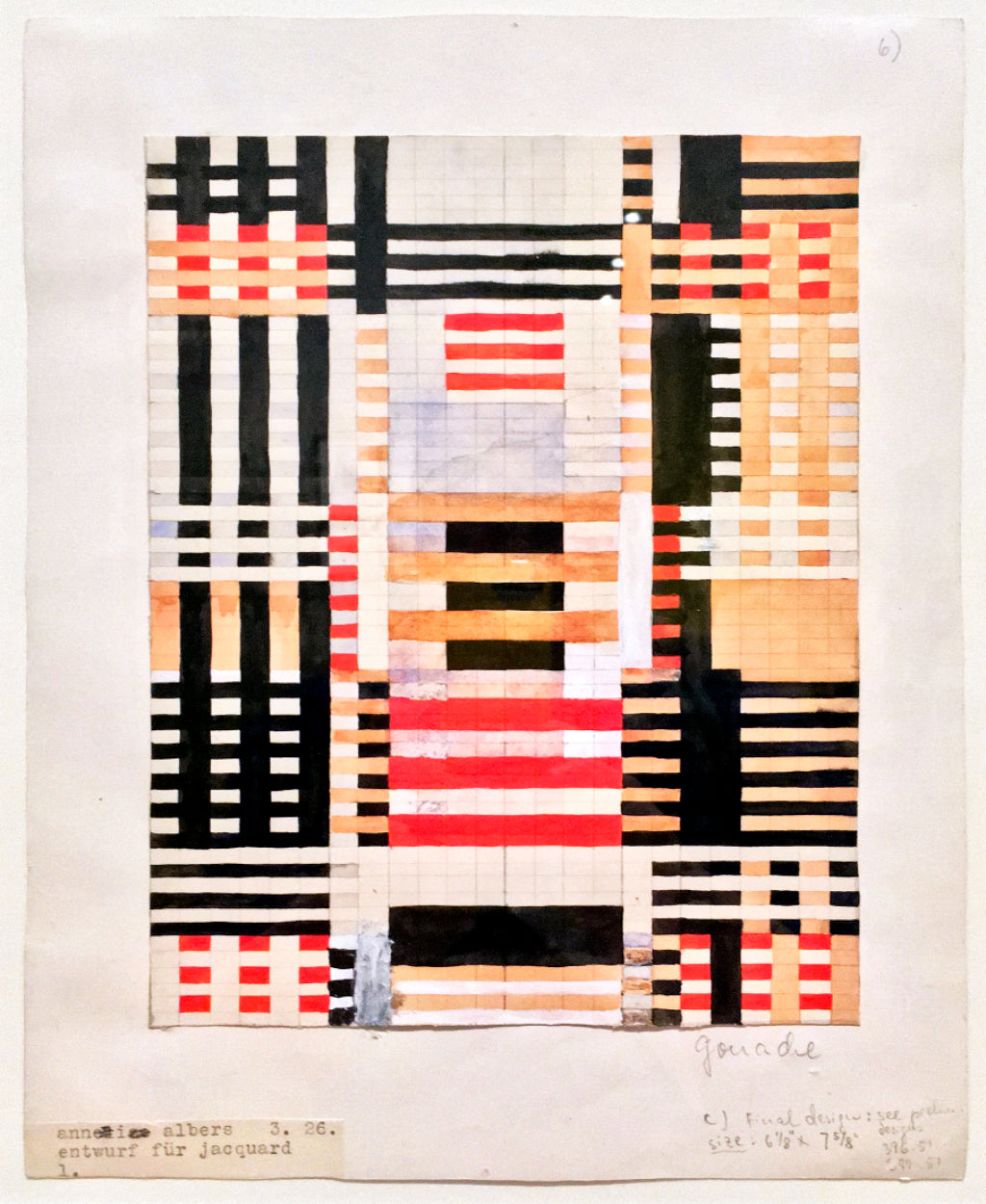 Anni Albers at Tate Modern - design sketch