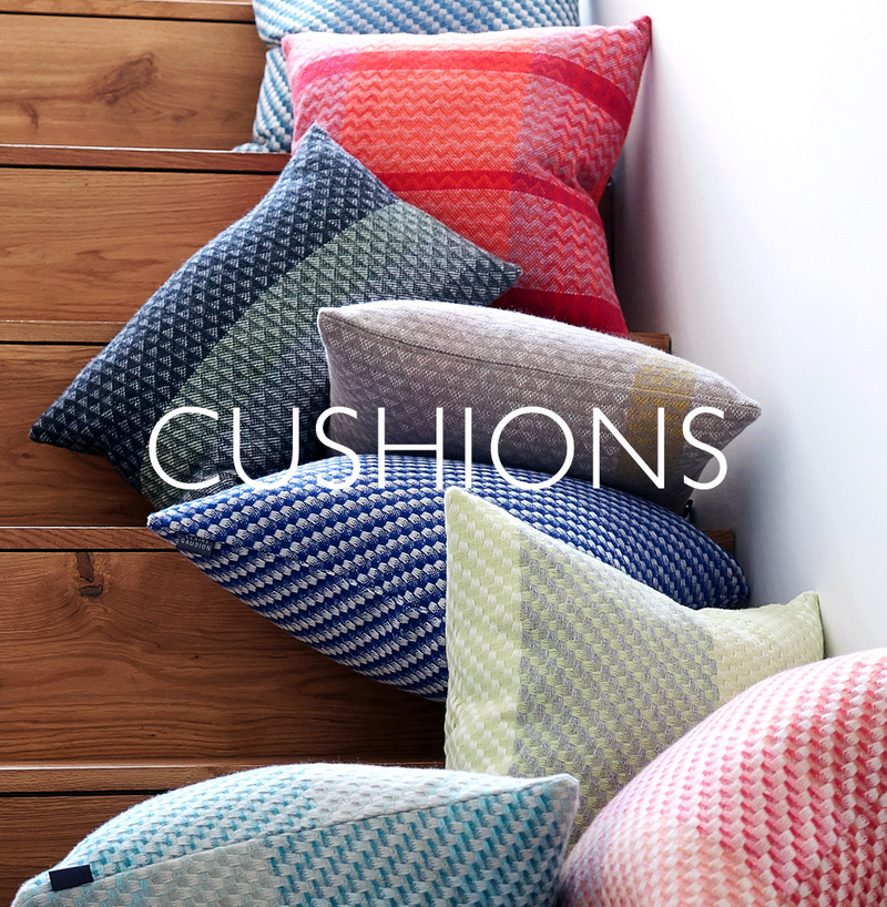 Claire Gaudion contemporary modern patterned cushions made in Britain