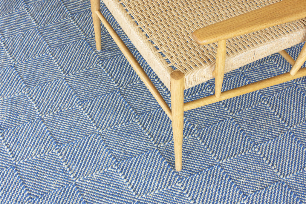 Handmade flat weave rugs by Claire Gaudion