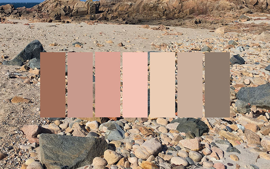 Biophilic colour schemes pink by Claire Gaudion