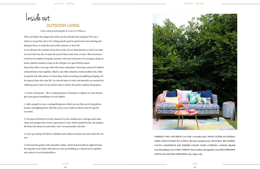 Claire Gaudion featured in ESTILA Magazine