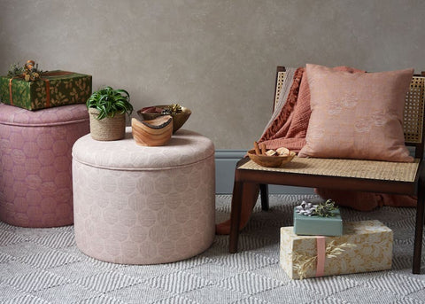 ottomans stools and rugs