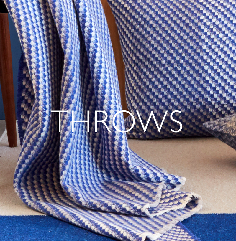 Claire Gaudion contemporary modern patterned blankets & throws made in Britain
