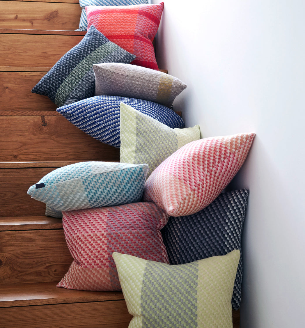 Claire Gaudion cushions and throws