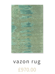 green hand knotted rug
