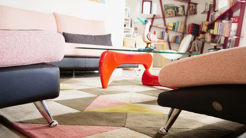 Decorating with geometric pattern rugs | CLAIRE GAUDION Geometric Rugs UK