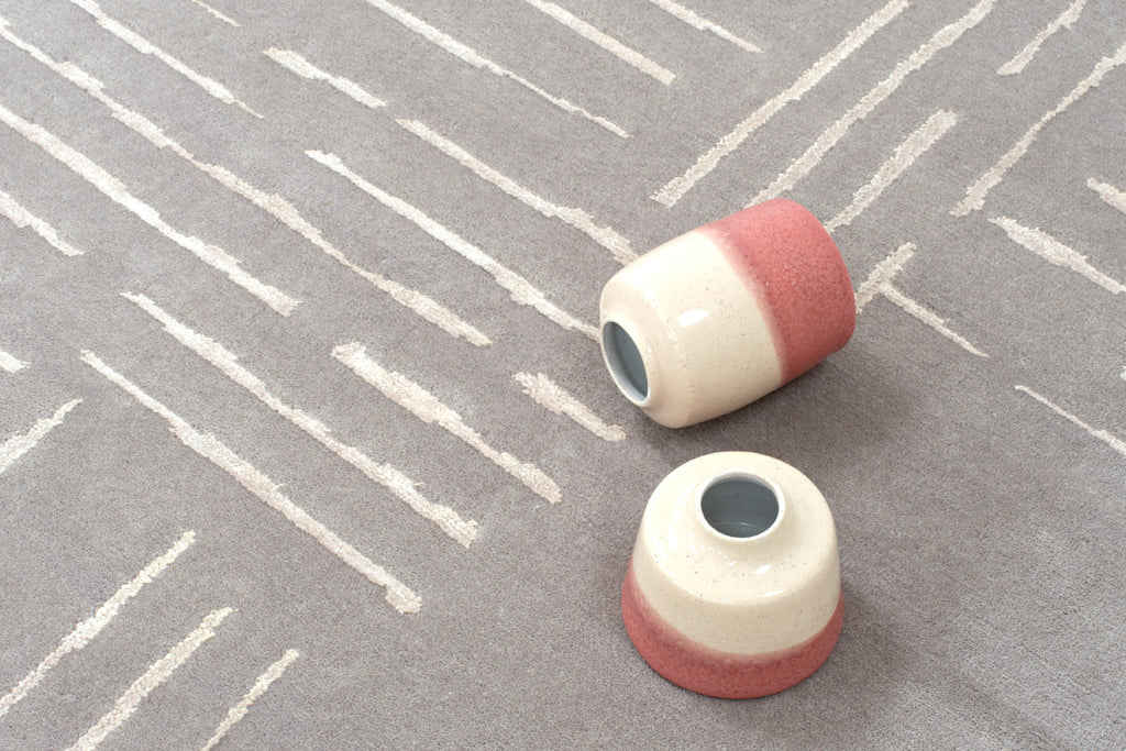 Claire Gaudion Contemporary Modern Rugs | Jerbourg Rug | Island Rhythms Collection