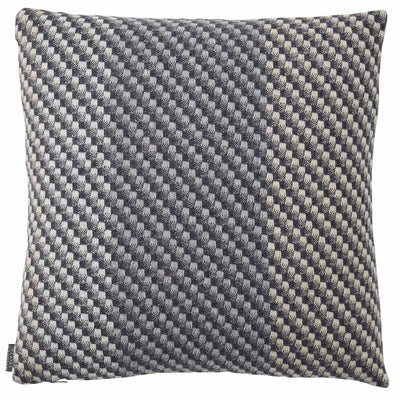 Charcoal Cushion - a woven wool cushion in a tonal grey colour palette