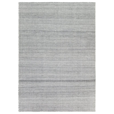 Ida Grey recycled plastic bottle rug by Claire Gaudion. Product shown full size.