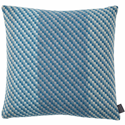 Claire Gaudion Inlet Cashmere Cushion - Woven Teal Cushion mixed with grey and cream