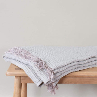 Shell Crinkle Cotton Throw Blanket