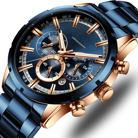 Watches with Stainless Steel Top Brand Luxury