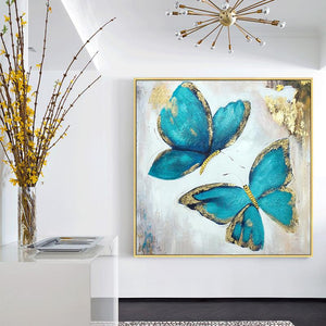 Gold Blue Butterfly