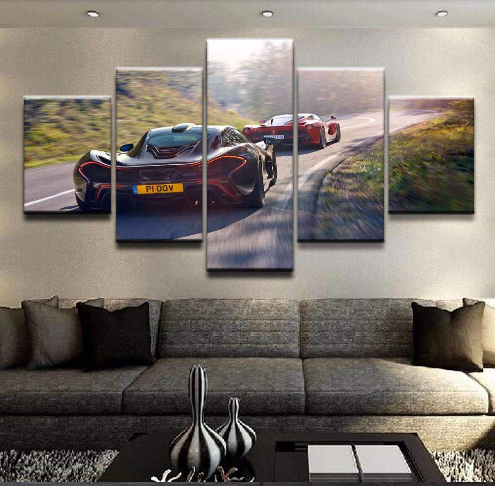 5 Pieces Pictures Black And McLaren
