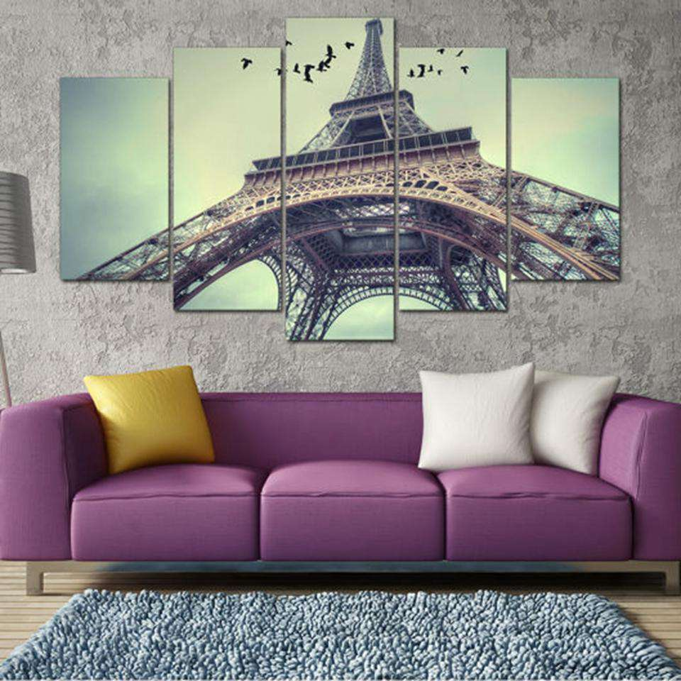 5 Pieces Paris Eiffel Tower