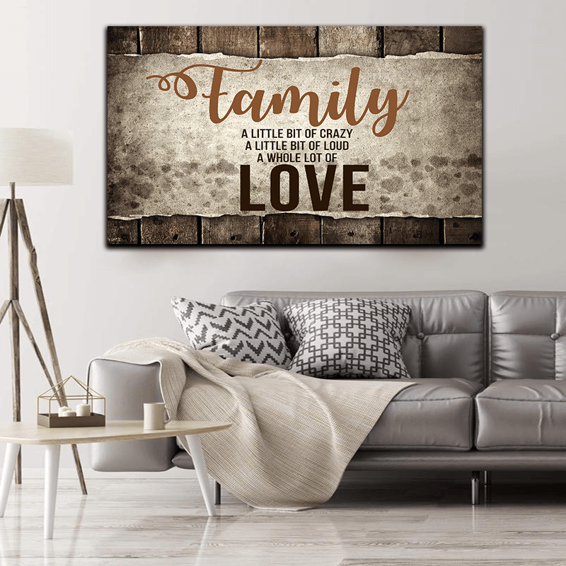 "Copy of ""FAMILY.. LOVE"" PREMIUM WALL ART"