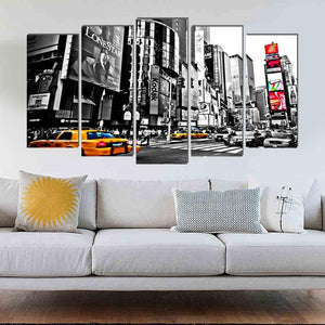 New York Street View 5PCS Canvas