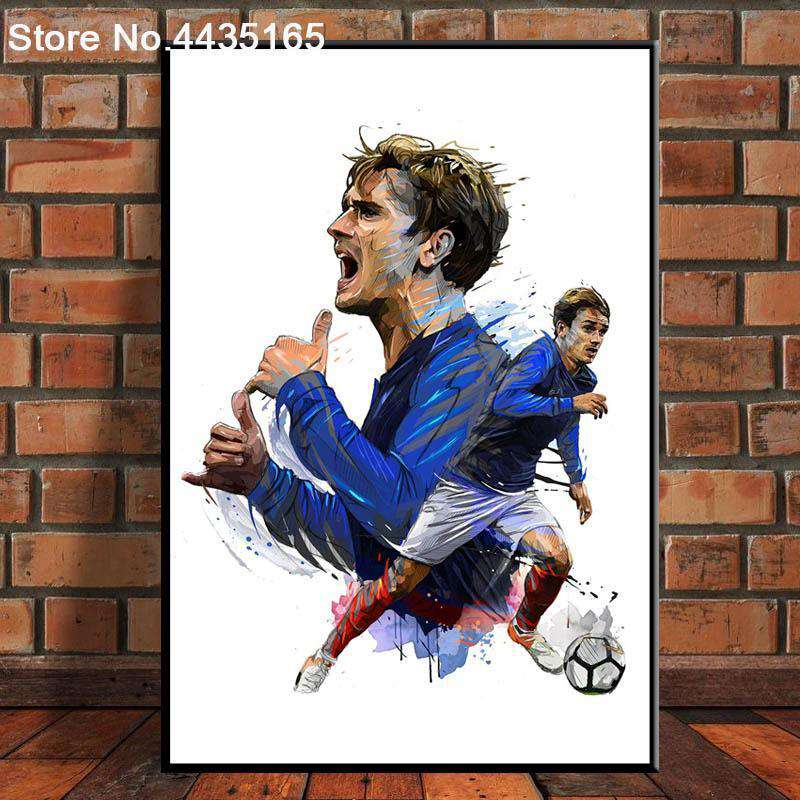 Prints Wall Art France Blue Football Star - Artisary