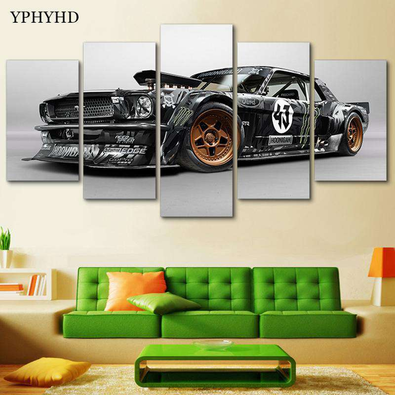 5 Piece Ford Mustang Rtr Car Canvas - Artisary