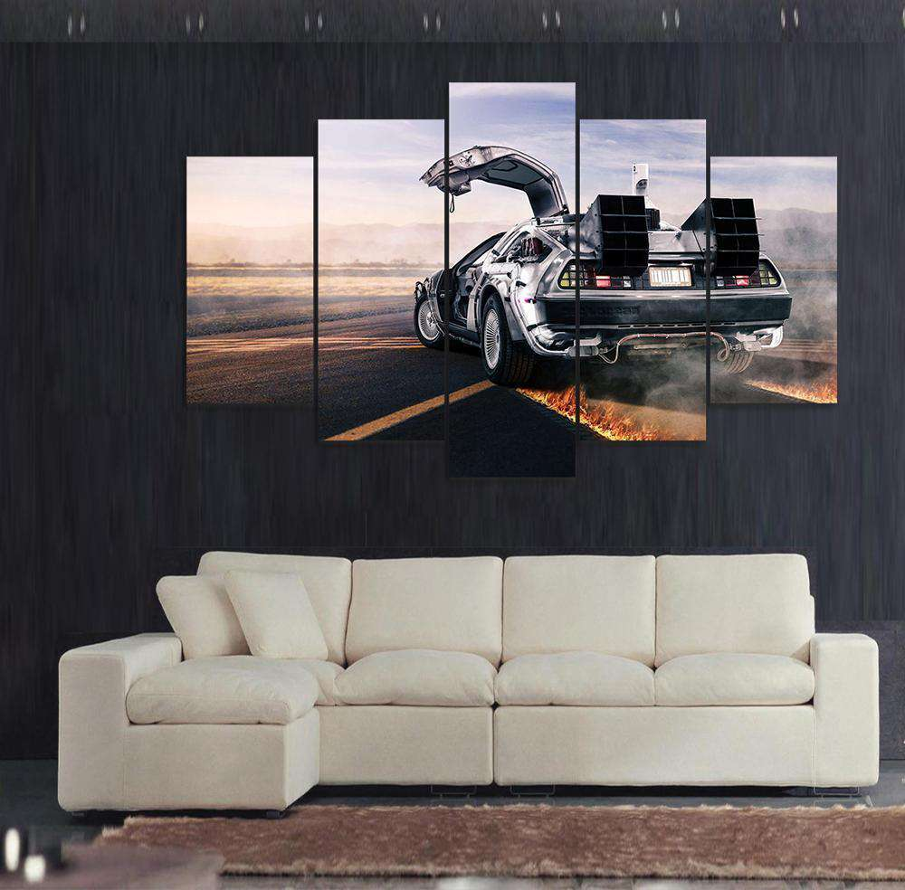 5PCS Back to the Future Wall Art