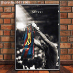 Football King Star Lionel Messi Wall Art Poster Canvas