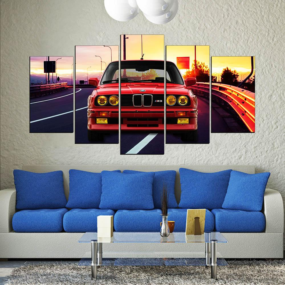 BMW M3 Sports Car 5 Pcs Canvas