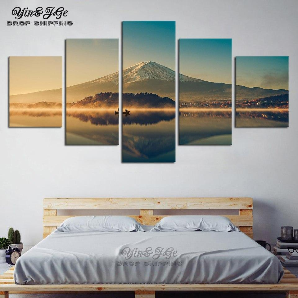 5 Pieces Mount Fuji Mountain Lake